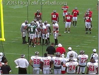 Josh Freeman in practice with the 2012 Buccaneers