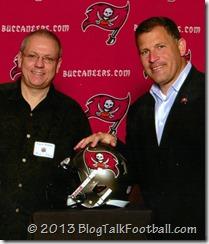 Buccaneers Head Coach Greg Schiano with Micheal Savoie