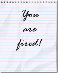 youarefired